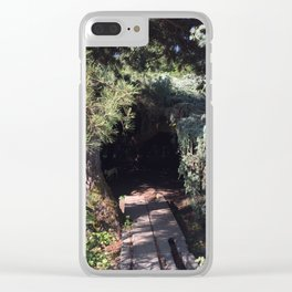 Tree cave in Kubota Garden - Seattle Clear iPhone Case