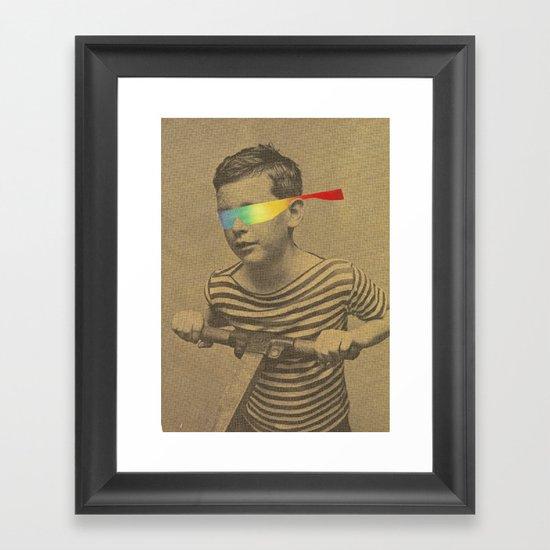 Occhiali cromodimensionali Framed Art Print