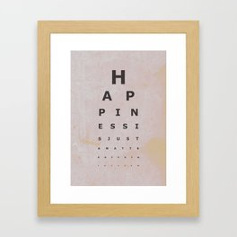 Happiness (4) Framed Art Print