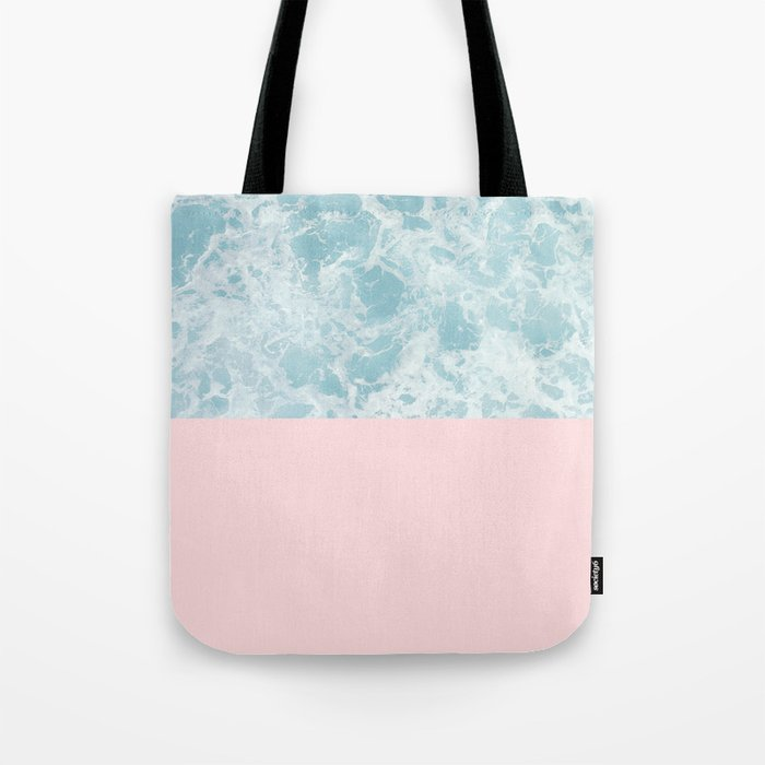 Pink on the Sea Tote Bag