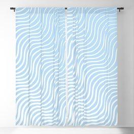 Whisker Pattern - Light Blue & White #285 Blackout Curtain