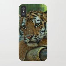 Baby Tiger iPhone X Slim Case