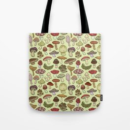 Mushroom Circle Tote Bag