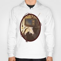 tv Hoodies featuring TELEVISION by FISHNONES