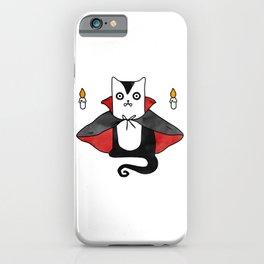 Vampire Cat – Dracula suit iPhone Case