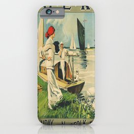 retro Norfolk Broads poster iPhone Case