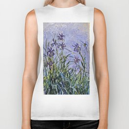 Claude Monet  -  Iris Mauves Biker Tank