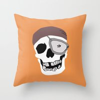 goonies Throw Pillows featuring Goonies by B. Hopt