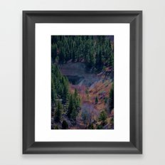 Colorful Canyon Framed Art Print