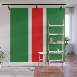TEAM COLORS 10...RED ,GREEN , WHITE Wall Mural