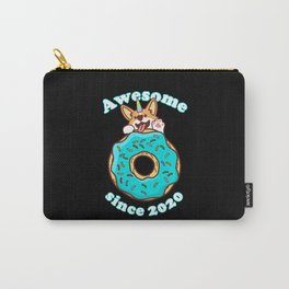 Awesome since 2020 Puppy Donut Birthday Carry-All Pouch