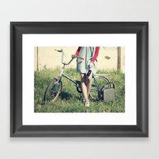 Vintage Biker Framed Art Print