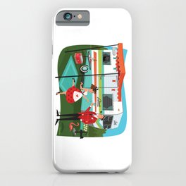 Happy Campers Vintage Travel Trailers, Caravans, Campers and Glamping Art iPhone Case