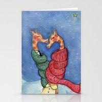 giraffes Stationery Cards featuring giraffes by knutsie