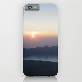 Sunrise on Mount Batur, Ubud, Bali, Indonesia - Travel Photography fine art wall print iPhone Case