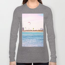 Windsurfing at St Kilda Long Sleeve T-shirt