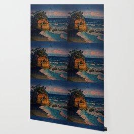 Bathing in Sunset Wallpaper