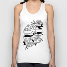 lazy perfectionist Unisex Tank Top