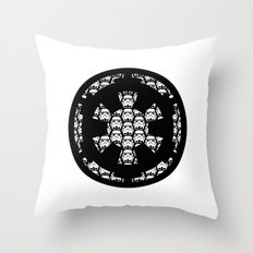 Galactic Empire Imperial Cog and Stormtroopers Throw Pillow