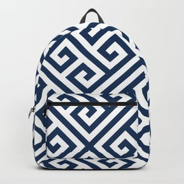 Greek Key Navy Backpack