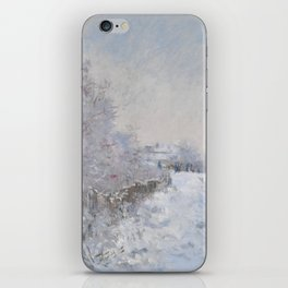 Snow Scene at Argenteuil iPhone Skin