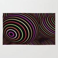 funky Area & Throw Rugs featuring Funky Balls by MehrFarbeimLeben