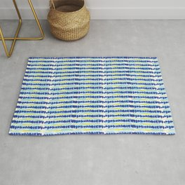 Modern Tie Dye-Blue & Yellow-Rock Stacking Rug