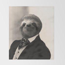 Gentleman Sloth #4 Throw Blanket