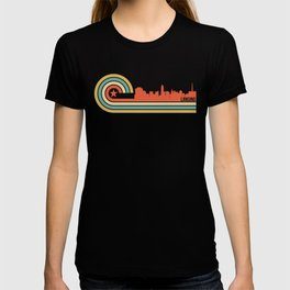 Retro Lansing Michigan Skyline T-shirt
