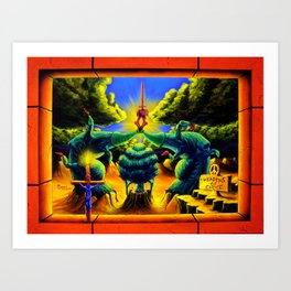 Trippy Psychedelic Surrealism - Weapons of Choiceby Vincent Monaco Art Print
