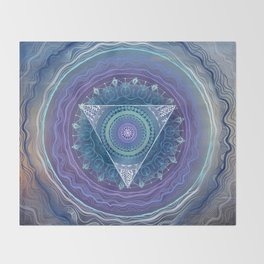 Ajna Third Eye Chakra Throw Blanket