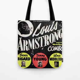 Louis Armstrong - Vintage Jazz Poster Tote Bag