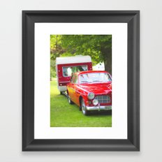 Let's go camping Framed Art Print