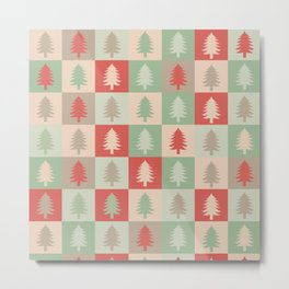 AFE Holiday Trees Metal Print