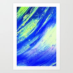 Acrylic Abstract on Canvas 7 Art Print
