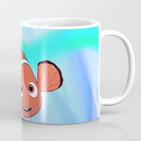 finding nemo Mugs featuring Nemo by paulusjart
