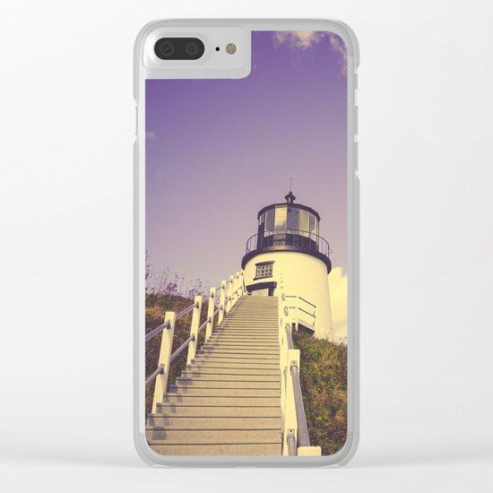 Maine Coast Lighthouse Clear iPhone Case