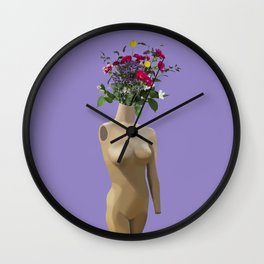 Floral Display Wall Clock