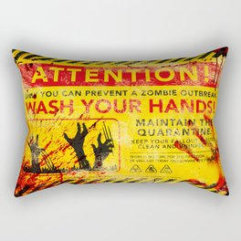 Prevent Zombie Outbreak: Wash your hands! Rectangular Pillow