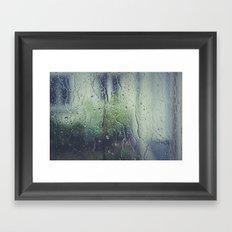 WATER - WINDOW - RAIN - FOCUS - PHOTOGRAPHY Framed Art Print