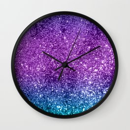 Unicorn Girls Glitter #10 #shiny #decor #art #society6 Wall Clock