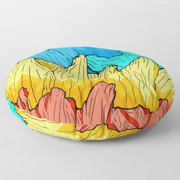 Rainbow Mounts Floor Pillow