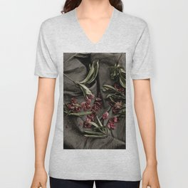 """Peonies are beautiful from the """"bud to to the end."""" Unisex V-Neck"""