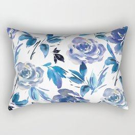 e1757c6d128c Royal Blue Garden 02 Rectangular Pillow