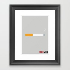 Mad Men - Minimalist Framed Art Print