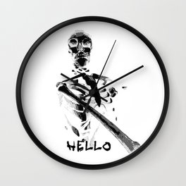 Hello Skeleton (Mr. Bones) Wall Clock