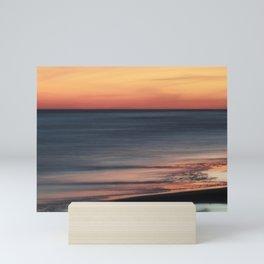 Fiery Sunset Over Galveston Beach Texas Mini Art Print