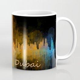 Dubai, emirates, City Cityscape Skyline watercolor art v4 Coffee Mug