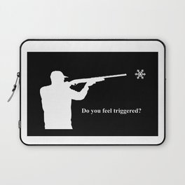 Do you feel triggered? (white) Laptop Sleeve