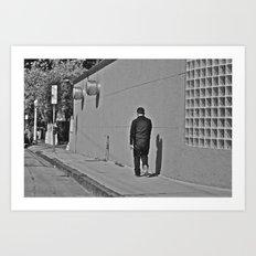 Lonely Man in Black Art Print